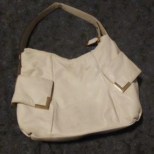 Michael Kors cream shoulder purse